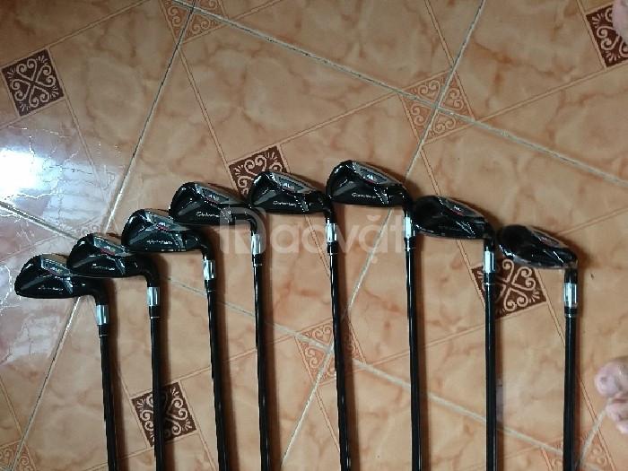 Cần thanh lý hạt dẻ gậy golf sắt Taylor Made M2 8 cây 4-9 và P, S
