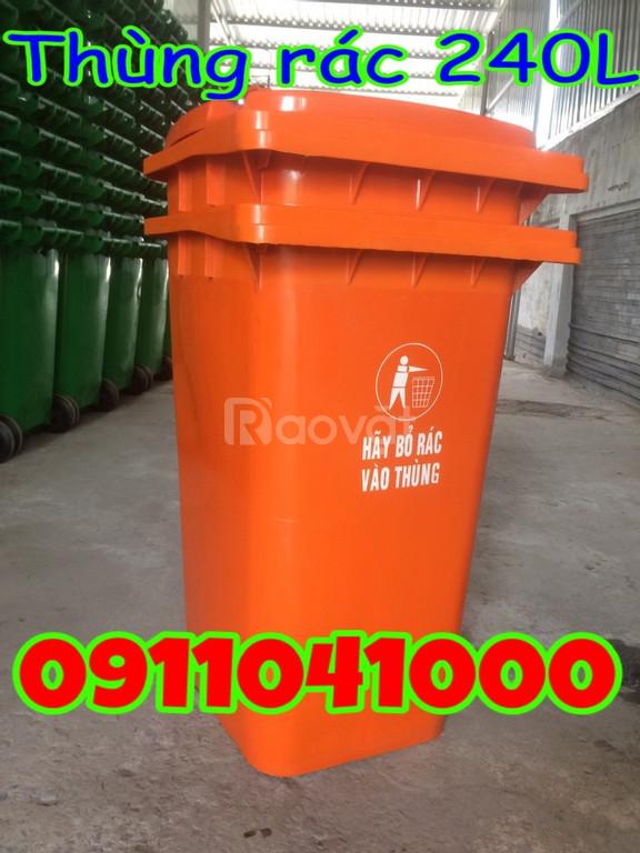 Thùng rác nhựa 120l, thùng rác 240l, xe rác 660l bán với giá tốt (ảnh 6)