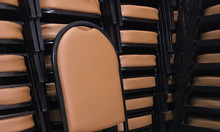 Ghế nhà hàng nệm Simili, ghế inox nhà hàng, ghế sắt nhà hàng