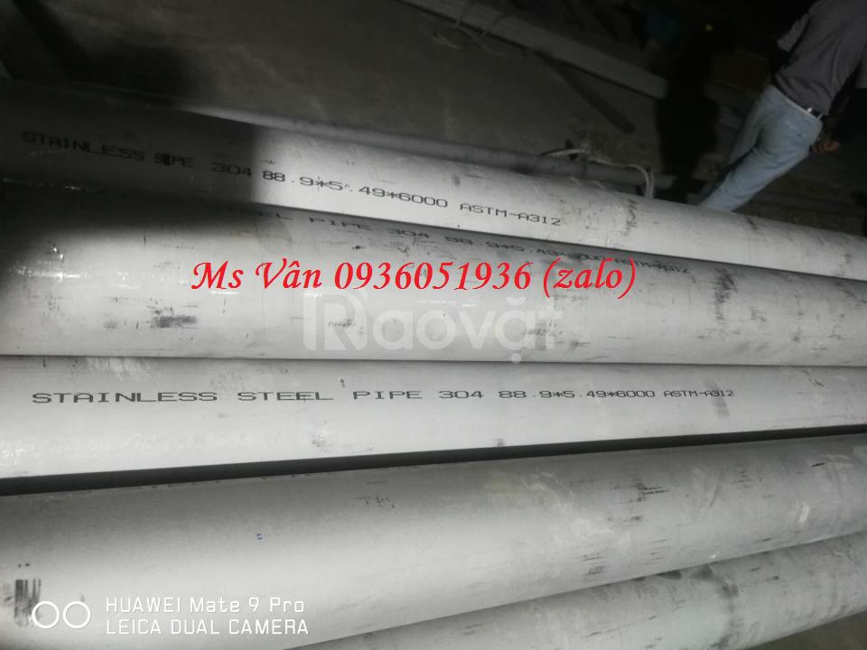 Ống đúc inox bằng đầu  ½'' x SCH40Sx 6000 hàng nhập khẩu giá rẻ
