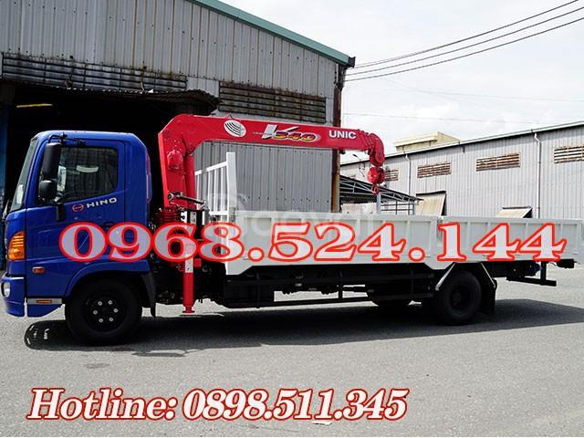 Xe tải Hino 5T gắn cẩu Unic 340 có sẳn giao liền (ảnh 4)
