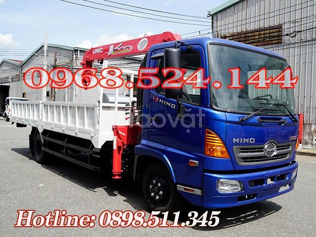Xe tải Hino 5T gắn cẩu Unic 340 có sẳn giao liền (ảnh 1)