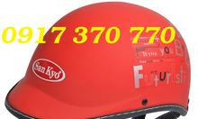 Chuyên nón bảo hiểm in logo thông tin quảng cáo - quà tặng giá rẻ