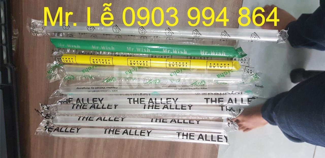 Chuyên sản xuất các loại ống hút theo yêu cầu, in logo theo yêu cầu