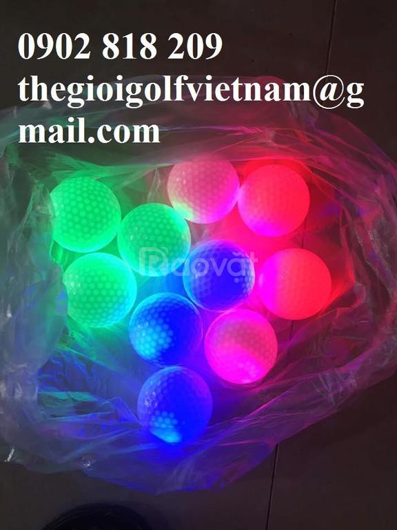 Banh golf phát sáng chơi ban đêm 100k