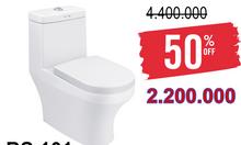 Thiết bị vệ sinh chính hãng giảm giá 50% cuối năm xã kho