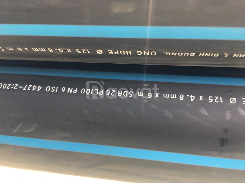 Ống nhựa dẫn nước máy 125 x 4.8mm