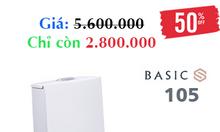 Bồn cầu Basic 105 chính hãng giảm giá 50% cuối năm