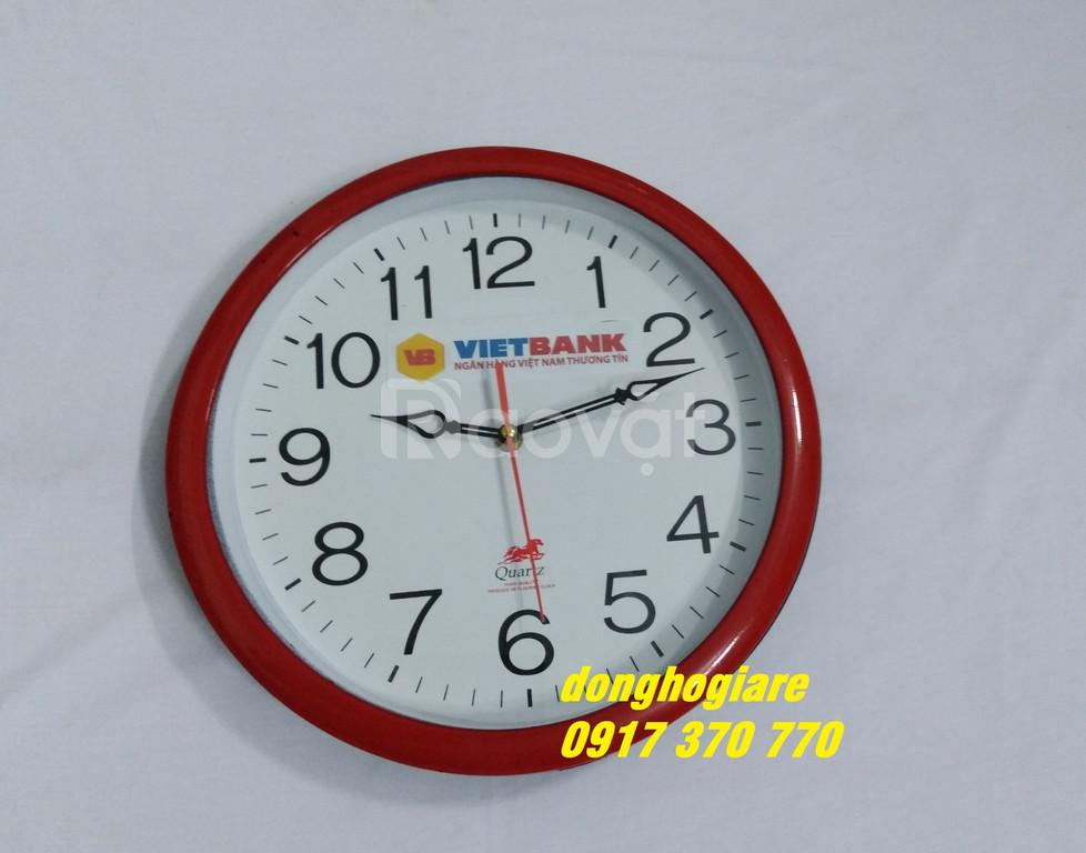 Nhận in logo, slogan lên đồng hồ treo tường giá gốc tại xưởng