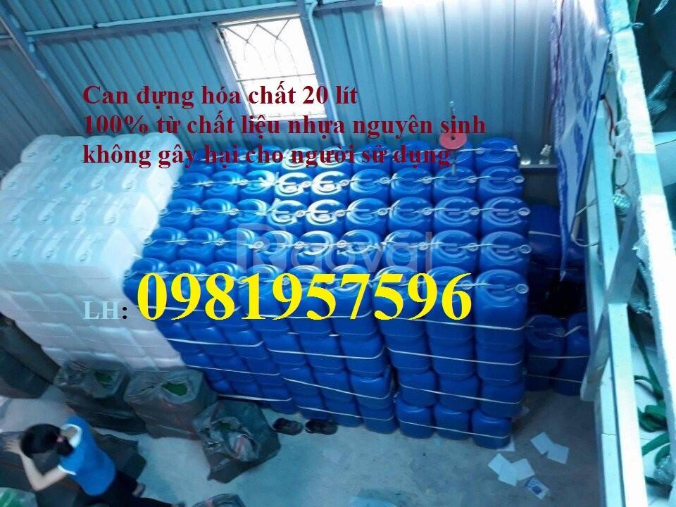 Can nhựa đựng hóa chất công nghiệp, dụng cụ đựng hóa chất, can 20 lít