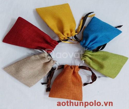Xưởng may túi đựng nữ trang vải Canvas màu giá rẻ (ảnh 1)