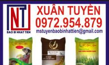Bao bì đựng gạo cao cấp, bao bì gạo 25kg