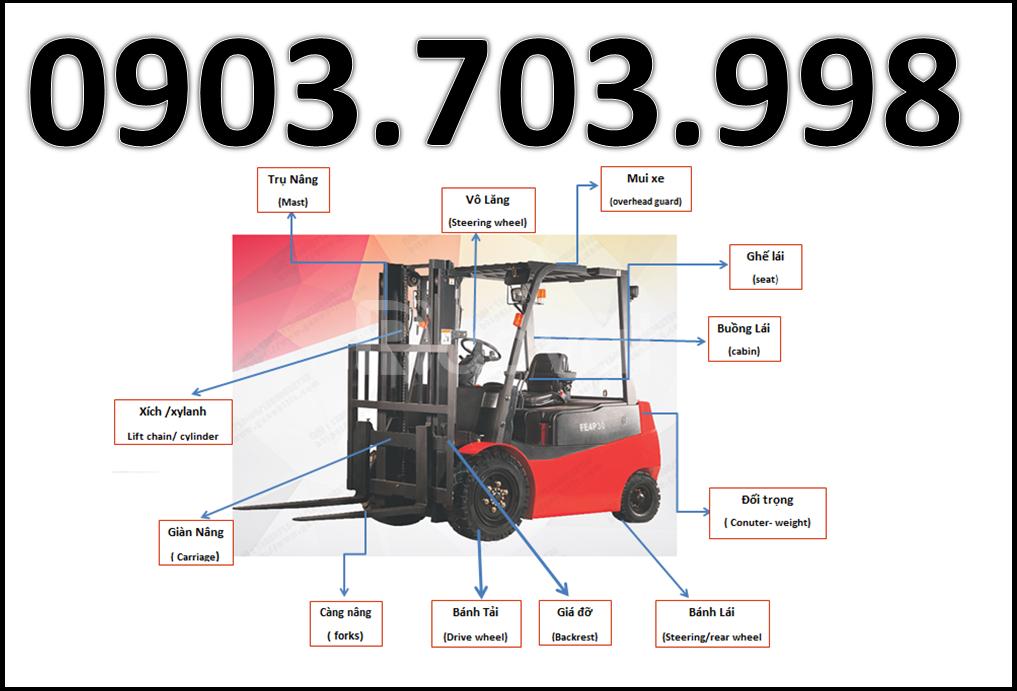 Xe nâng điện ngồi lái Nobleift 2000kg nâng cao 4 mét