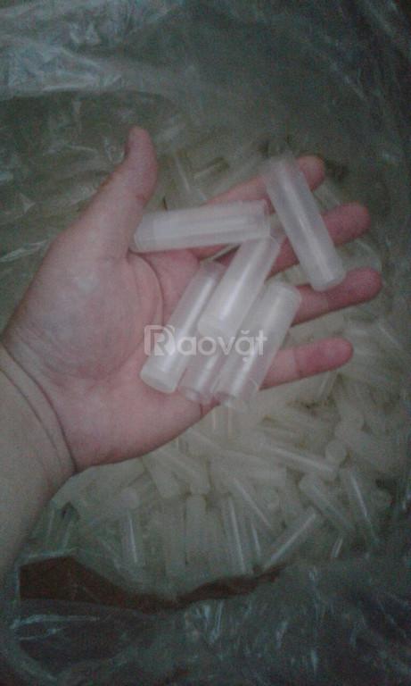 Thanh lý vỏ son handmade nhựa trắng trong suốt