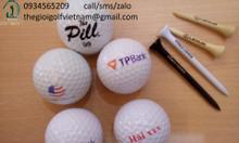 Dịch vụ in logo lên bóng và tee golf để mở gải và làm quà tặng