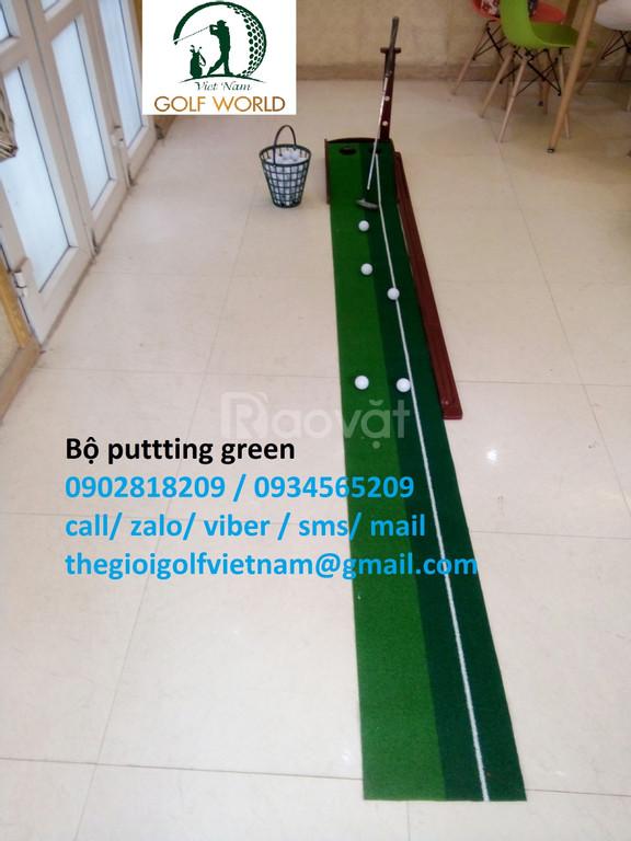 Bộ putting green, 5 bóng tập và gậy putter