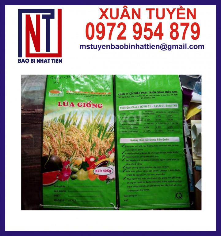 Bao PP dệt đựng lúa giống 50kg