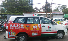 Dịch vụ quảng cáo trên xe buýt, quảng cáo taxi, quảng cáo xe Grab