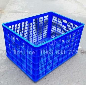 Sóng nhựa công nghiệp 26 bánh xe đựng hàng