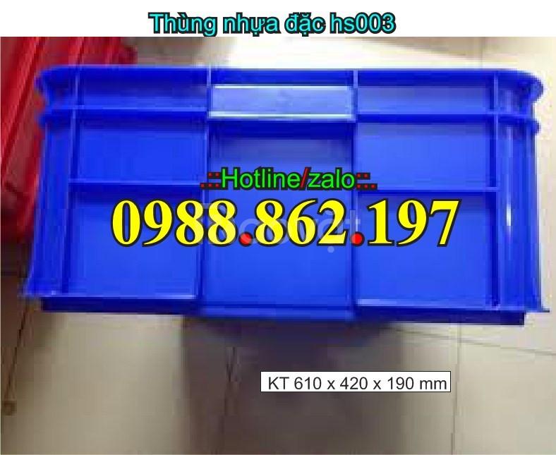 Thùng nhựa hs003, thùng nhựa có nắp