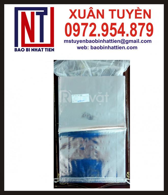 Bao bì PP dệt ghép màng metalize không in (ảnh 7)