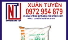 Bao phân bón 25kg PP dệt trắng in flexo