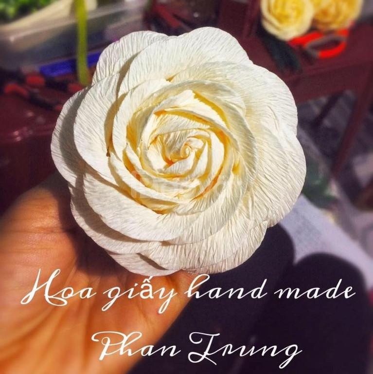 Hoa giấy nhún giá rẻ nguyên liệu làm hoa giấy nhún giá rẻ