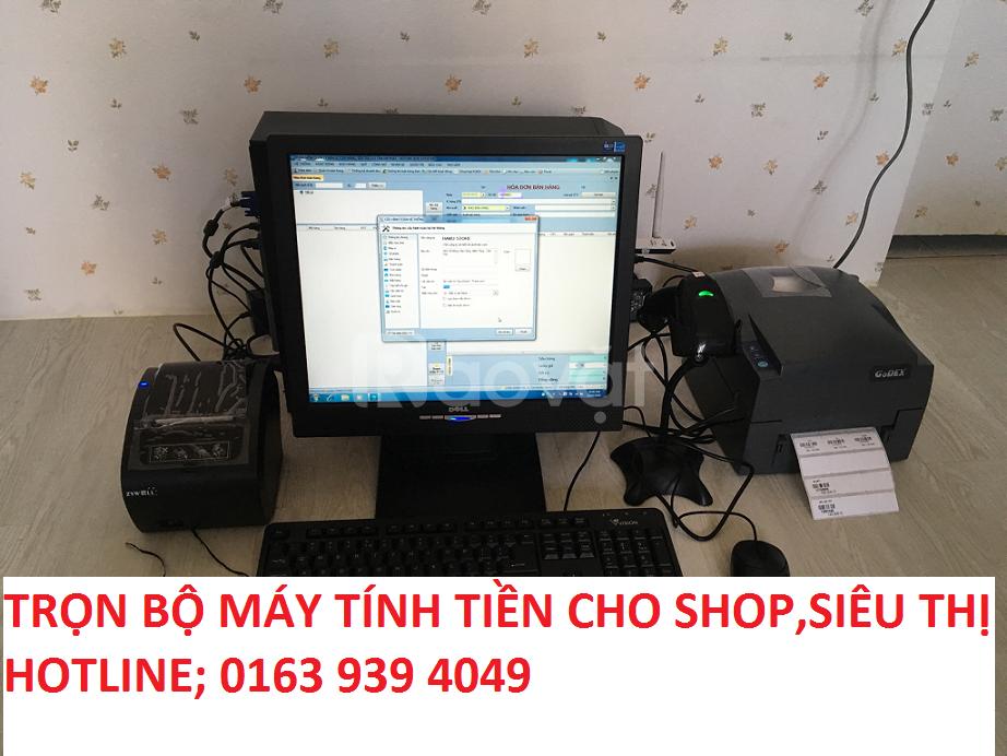 Lắp đặt trọn bộ máy tính tiền cho siêu thị mini, cửa hàng tạp hóa