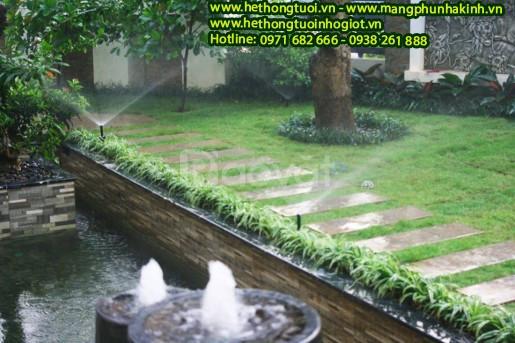 Tưới cảnh quan, tưới cảnh quan sân vườn, hệ thống tưới cỏ