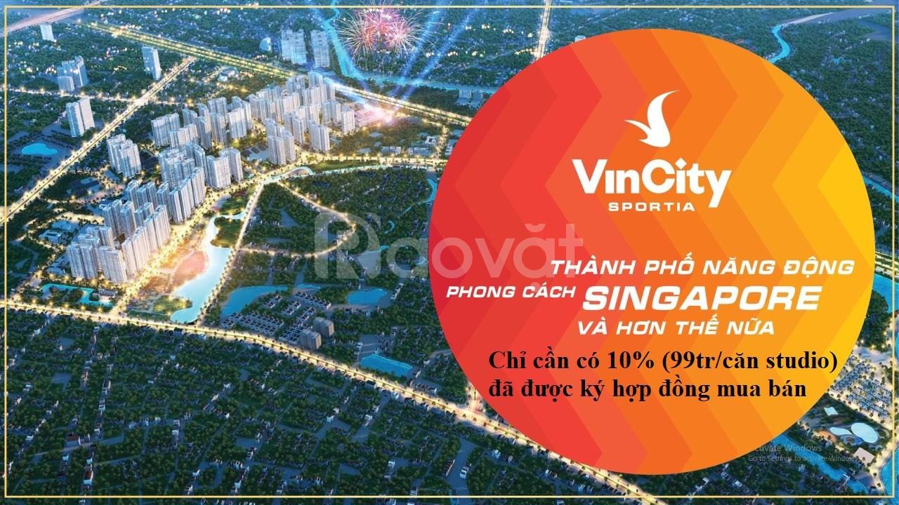 Bán căn hộ Studio tại Vincity Sportia Tây Mỗ Đại Mỗ giá chỉ 999 triệu (ảnh 1)