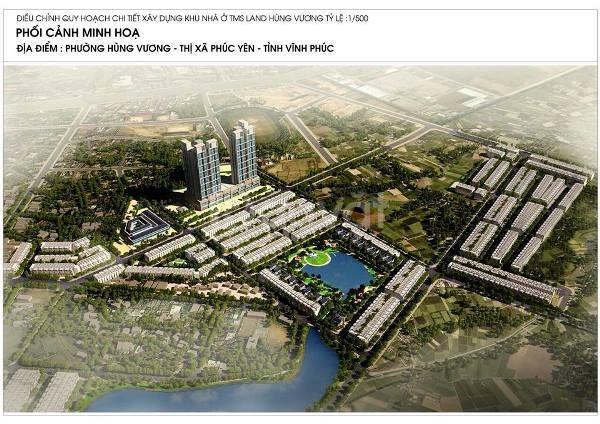 Chính chủ cần bán lô đất nền dự án TMS Phúc Yên DT 70m giá 720tr