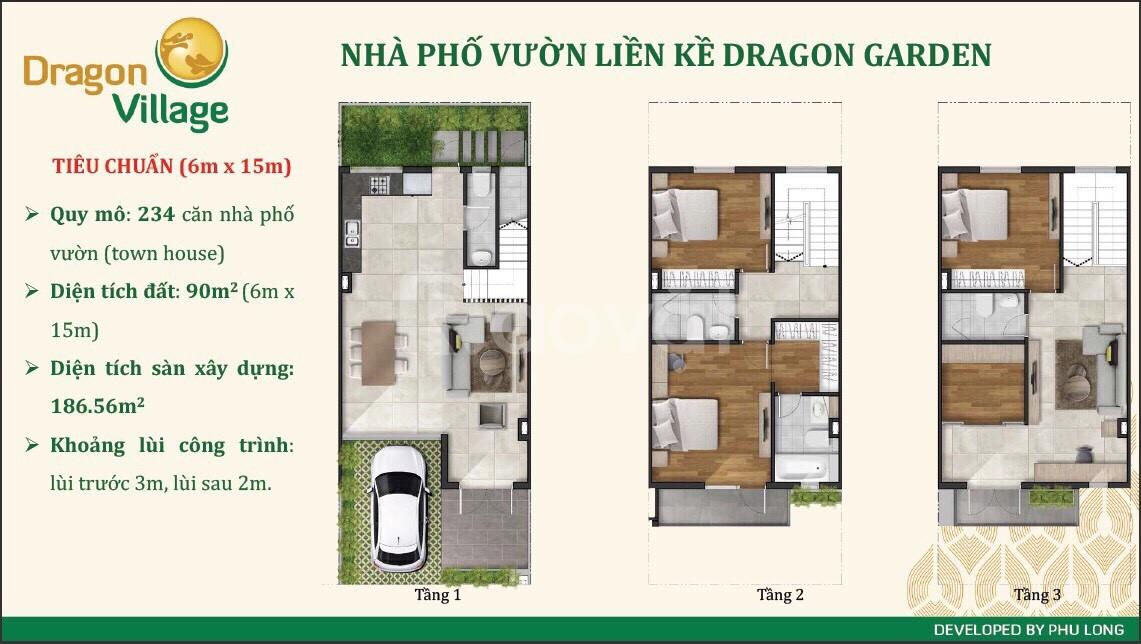 Bán nhà phố vườn Dragon Village - Phú Long mặt tiền phường Phú Hữu Q9 (ảnh 1)