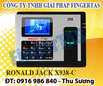 Ronald jack x938-c máy chấm công vân tay bảo hành 12 tháng