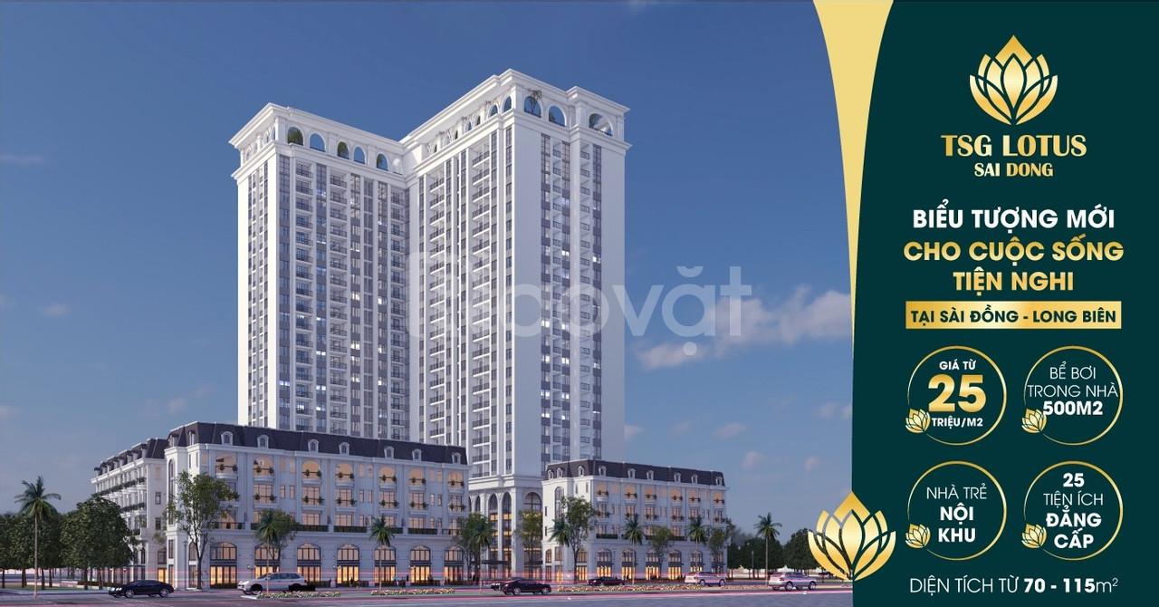 Nhận đặt chỗ TSG Lotus Sài Đồng, Long Biên, diện tích từ  70- 115m2