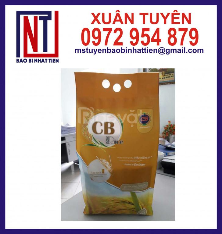 Bao bì gạo 5kg giá rẻ, bao bì gạo màng ghép