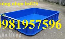Thùng nhựa công nghiệp, thùng nhựa, thùng cơ khí, sóng nhựa bít hs025