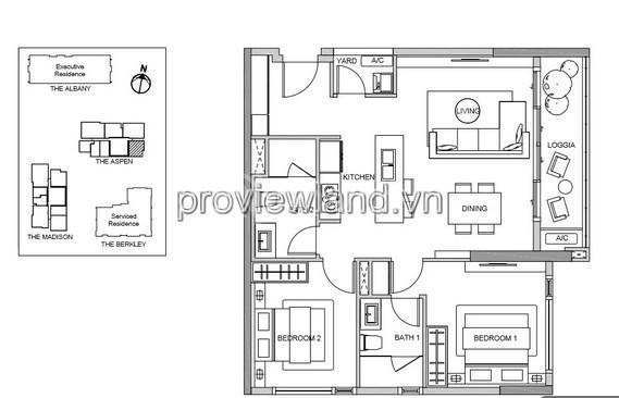 Bán gấp căn hộ cao cấp Gateway Thảo Điền 2 phòng ngủ 89m2 view sông