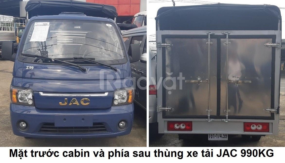 Xe tải JAC 990kg- thùng mui bạt