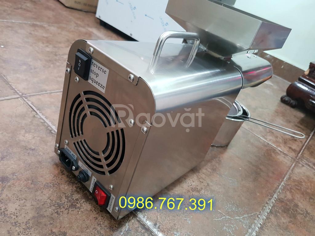 Máy ép dầu lạc, dừa, bơ, máy ép dầu thực vật 5-6kg/h dầu cực trong