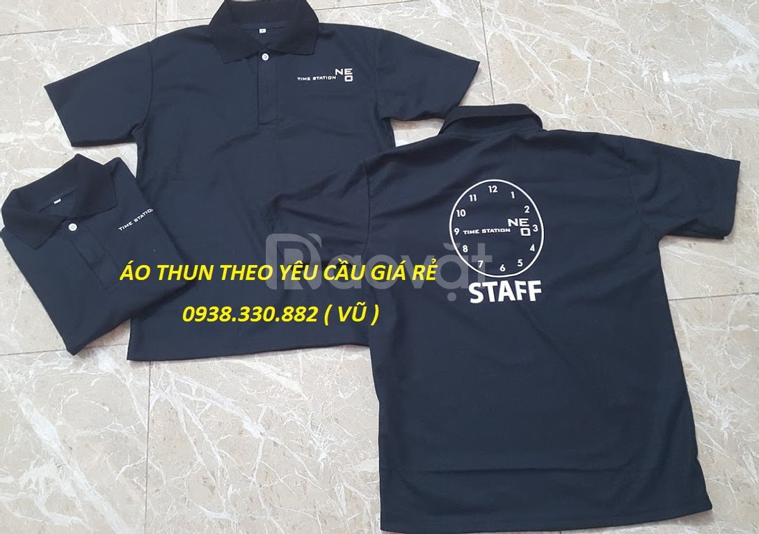 May áo thun đồng phục theo yêu cầu giá khuyến mãi