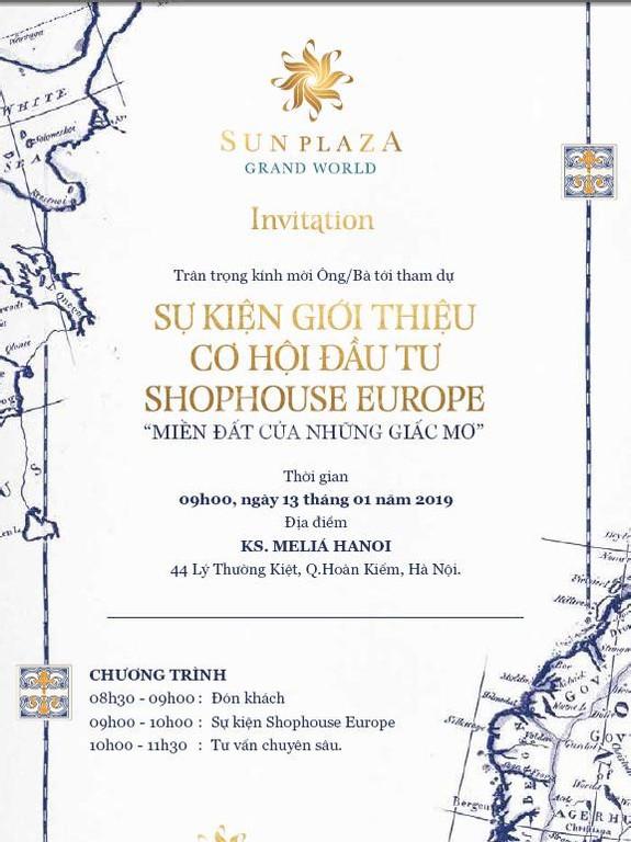 Cơ hội cuối cùng nhận CK 600 triệu của Shophouse Europe Hạ Long