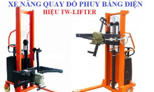 Xe nâng quay đổ phuy điện QDPD3514 TW-Lifter Đài Loan