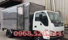 Đại lý xe tải isuzu 1T9 thùng kín, xe tải isuzu bửng nâng