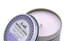 Nến thơm khử mùi tinh dầu oải hương - Aroma Candles Lavender Tin