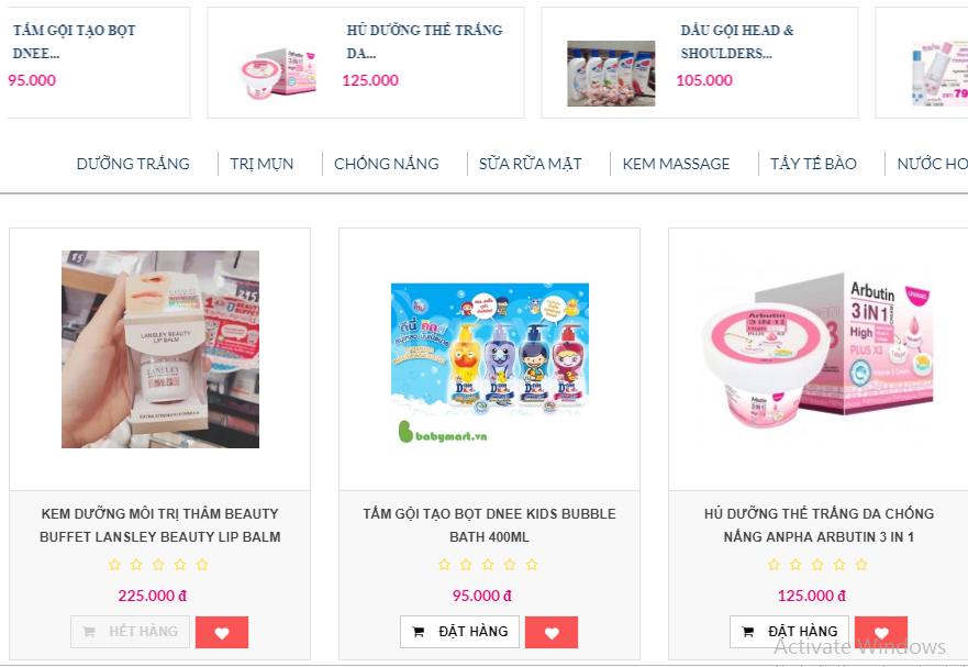 Sỉ mỹ phẩm Thái Lan giá rẻ, chất lượng