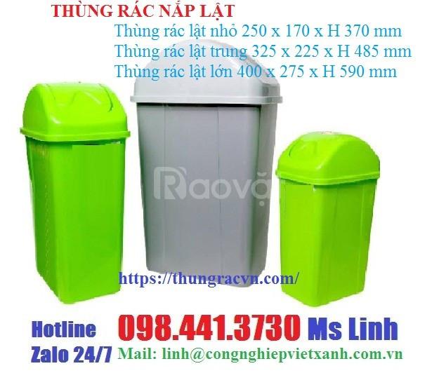 Thùng rác nắp lật khuyến mãi