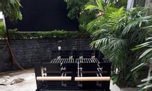 Bếp nướng than hoa sân vườn khung thép Acter tree CK350