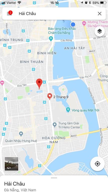 Bán 125 m2 đất đường 2/9, Đà Nẵng đ/diện khu vui chơi giải trí