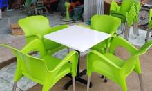 Bàn ghế cafe nhựa đúc giá rẻ