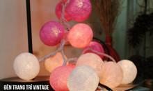 Dây đèn bóng len - đèn trang trí phòng ngủ
